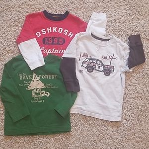 GAP/CIRCO/OSH KOSH Boys 2T long-sleeved shirts